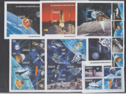 GABON 7 SHEETS + 4 SETS COLLECTION SPACE ESPACE COSMONAUTS ASTRONAUTES FIRST MAN ON THE MOON