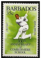Barbados/Barbate: Giocatore In Azione, Player In Action, Joueur Dans L'action - Cricket