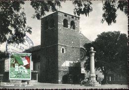 8438 Italia, Trieste, Maximum 1952  The Church Of St. Giusto  St. Just Cathedral,  Architecture - Vari