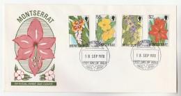1978 MONTSERRAT  FDC  Stamps FLOWERS Cover Flower - Montserrat