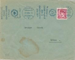17825. Carta PRAHA (Checoslovaquia) 1936. Slogan Jubileum - Checoslovaquia