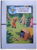 Tintin : L'aventure Continue. - Hergé