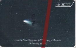 AND-083 TARJETA DE ANDORRA DEL COMETA HALE BOPP  (NUEVA-MINT) - Andorra