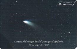 TARJETA DE ANDORRA DEL COMETA HALE BOPP DE TIRADA 7000 - Astronomy