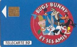 AFFAIRE à Ne Pas RATER  !!!  TC Privée 50 Unités Bande Dessinée BUG S BUNNY Et Ses AMIS Utilisée LUXE - France