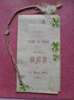 CARNET PREMIER BAL COMITE FOIRE DE PARIS-30 MARS 1904 AVEC FLEUR EN ACCORDEON - Mitteilung