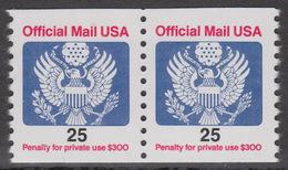 !a! USA Sc# O141 MNH Horiz.PAIR - Great Seal - Officials
