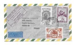 Premier Vol  Air France -Rio De Janeiro 1930 Mai 1955 - Poste Aérienne