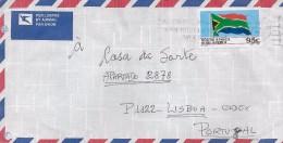 TIMBRES - STAMPS - LETTRE POUR PORTUGAL - PAR AVION - AFRIQUE DU SUD - TIMBRE DRAPEAU DE AFRIQUE DU SUD - Afrique Du Sud (1961-...)