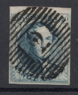 N° 7 Margé BDF  2 ALOST  TB - 1851-1857 Medallones (6/8)