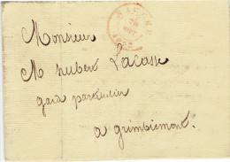LAC De Marche En Famenne Vers Grimbiemont (marche T15R)  Du 20 Aout 1852 - 1869-1883 Leopold II