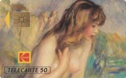 AFFAIRE à Ne Pas RATER  !!!  TC Privée 50 Unités ART Peinture Baigneuse Aux SEINS NUS De RENOIR PUB KODAK Utilisée LUXE - France