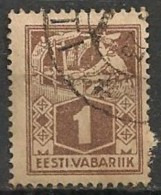 Timbres - Estonie - 1922 - 1 S. - - Estonie