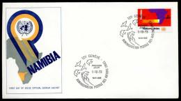 37887) UNO-Genf - Michel 34 - FDC Genf-Cachet - Namibia - FDC