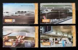 Malaysia Kuala Lumpur International Airport KLIA 2 2014 Airplane Aeroplane Transport Vehicle Aviation (stamp) MNH - Malaysia (1964-...)