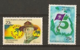 COCOS KEELING ISLANDS  1982, 75 Years Scouting - Padvinderij