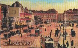 AFFAIRE à Ne Pas RATER  !!!  TC Privée 50 Unités NICE Place MASSENA Reprise CPA 1900 Utilisée LUXE - Francia