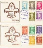 Boy Scouts PANAMA.  Deux Enveloppes Souvenir (FDC) Année 1964 Du PANAMA - Scoutisme