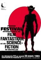 BUZZELLI. RARE Carte Postale Pour Le 1er Festival International Du Film Fantastique Et De S-F. Bruxelles. 1983 - Tarjetas Postales