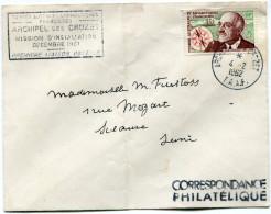 """T. A. A. F. LETTRE AVEC CACHET """"TERRES AUSTRALES ET ... ARCHIPEL DES CROZET MISSION D'INSTALLATION DECEMBRE 1961..."""" - Terres Australes Et Antarctiques Françaises (TAAF)"""