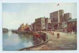 Castle Rushen And Harbour, Castletown, I.O.M. - Art Colour - Isle Of Man