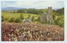 Sunday Service At Kirk Braddan, I.O.M. - Art Colour - Isle Of Man
