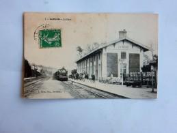 Carte Postale Ancienne : LA REOLE : La Gare, Animé, Train, En 1909 - La Réole