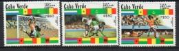 1981 Cape Verde Football Complete Set Of 3 MNH - Kap Verde