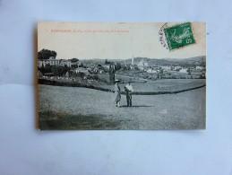 Carte Postale Ancienne : HASPARREN : Vue Générale Prise De Lukaindeya, Animé En 1908 - Hasparren