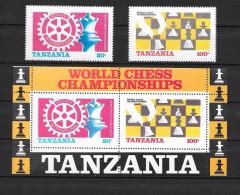T 00079 - Tanzanie 1986, N° 275, 276 Et Bloc N° 44  Neufs Luxe Côte 36.00 €