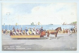 """Toast Rack"" Tram On Douglas Promenade - Art Colour - Isle Of Man"