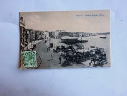 Carte Postale Ancienne : MALTA : Sliema Landing Place, Stamp 1917 - Malta