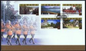 2003  Tourist Attractions :Falls, RCMP,  5 Different From Booklet Sc 1989a-e - First Day Covers