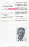 Vercruysse Daniel Cauwelier Beddeleem Doom Moorslede  Bidprentje Doodsprentje - Religion & Esotérisme