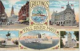 Litho Greetings From FALL RIVER MASS. (Massachusetts) - Karte 190?, Rand Leicht Beschnitten - Autres