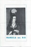 Document Publicitaire/Spectacle/ Manuela Del Rio/Maîté Etchegaray/Joachim Roca/ Vers 1950  CMH38 - Invoices & Commercial Documents