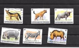 BURUNDI - Série Faune Sauvage Dépareillés N° 856/857/858/860/862/863 ( Verso Du Timbre Hyène 85 F° - 1980-89: Oblitérés