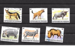 BURUNDI - Série Faune Sauvage Dépareillés N° 856/857/858/860/862/863 ( Verso Du Timbre Hyène 85 F° - Burundi