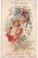 ANGE - ANNEE 1905 - Carte Gaufrée - Anges