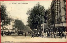 PARIS XIXè - Rue D'Allemagne - Colorisée - Très Animée - Arrondissement: 19