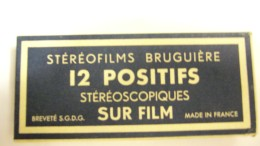 BRUGUIÈRE STÉRÉOFILMS 12 POSITIFS     PARIS - Visionneuses Stéréoscopiques