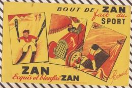 10 BUVARD LE BOUT DE ZAN FAIT DU SPORT D'APRES ANDREE DAGAND 14 X 21 CM - Süssigkeiten & Kuchen