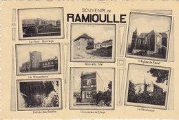 Souvenir De Ramioulle (multivues - Nouvelle Cité, Biscuiterie...marcophilie Points ?) - Engis