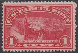 !a! USA Sc# Q001 MNH SINGLE (Gum Slightly Damaged) - Parcel Mail, Post Office Clerk - Officials