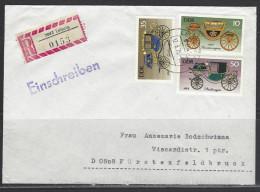 DDR  RECO - Beleg Mi-Nr. 2147 + 2150 + 2152 Historische Kutschen - [6] Democratic Republic