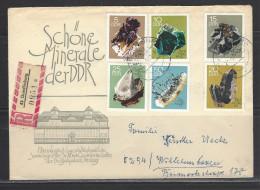 DDR  RECO - Beleg Mi-Nr. 1468 - 1473 Minerale Sammlung Bergakademie Freiberg - [6] Democratic Republic