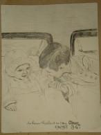 Dessin Au Crayon-Illustrateur-Le Prince Charles Et Sa Soeur (4) - Dessins