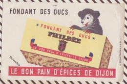 16 BUVARD PHILBEE OURS FONDANT DES DUCS  21 X 13.5 CM UN PEU FROISSE D'UN COTE - Pain D'épices