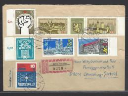 DDR - RECO-Beleg Mi-Nr. 2153 + 2154 Dreierstreifen Briefmarkenausstellung Gera (2) - [6] Democratic Republic