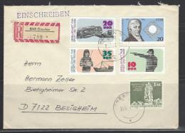 DDR - RECO-Beleg Mi-Nr. 2220 - 2222 - 25 Jahre Gesellschaft Für Sport Und Technik - [6] Democratic Republic